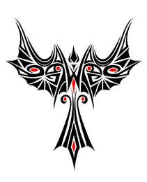 Beautiful Phoenix Tribal Tattoo