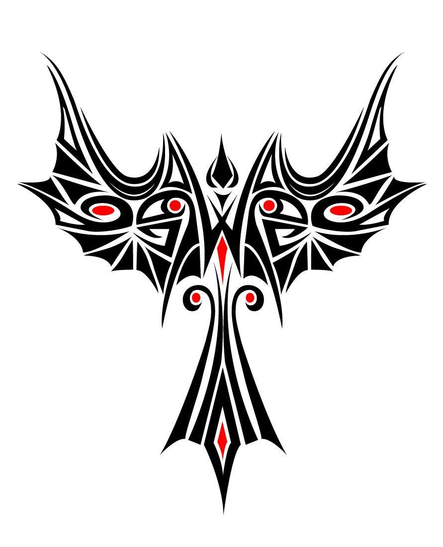 17d1faf27 Beautiful Phoenix Tribal Tattoo - Vector download
