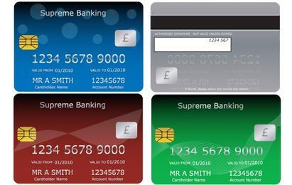Tarjetas de débito de crédito bancario