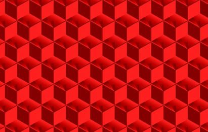 Red Cubed Pattern