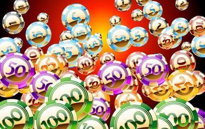 Freie Reihe von Vektor Golden ein glänzendes Casino-Chips